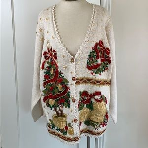 Heirloom Collectibles ugly Christmas sweater retro